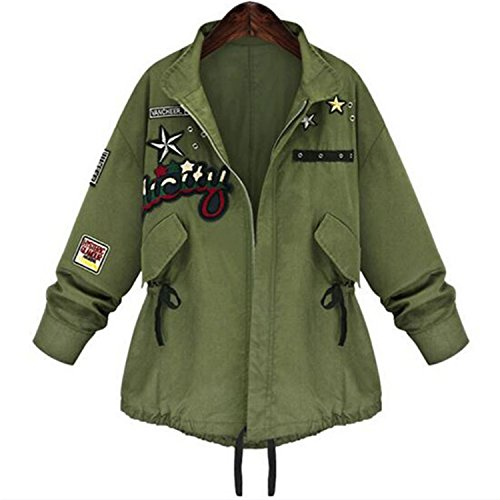 Amazon.com: Eault Elegant 1PC Autumn Jacket Women Military Bomber Jacket Women Basic Coats Casual Fashion Casacos Jaqueta Feminina Chaquetas Mujer SK3123 ...