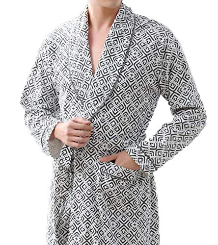 Largo Yardas Ropa Albornoz En Casa Tamaños Casual Otoño Hx Hombres Camisón Algodón Gris Cómodos Fashion Sueltas De Pijamas Los xqORCP