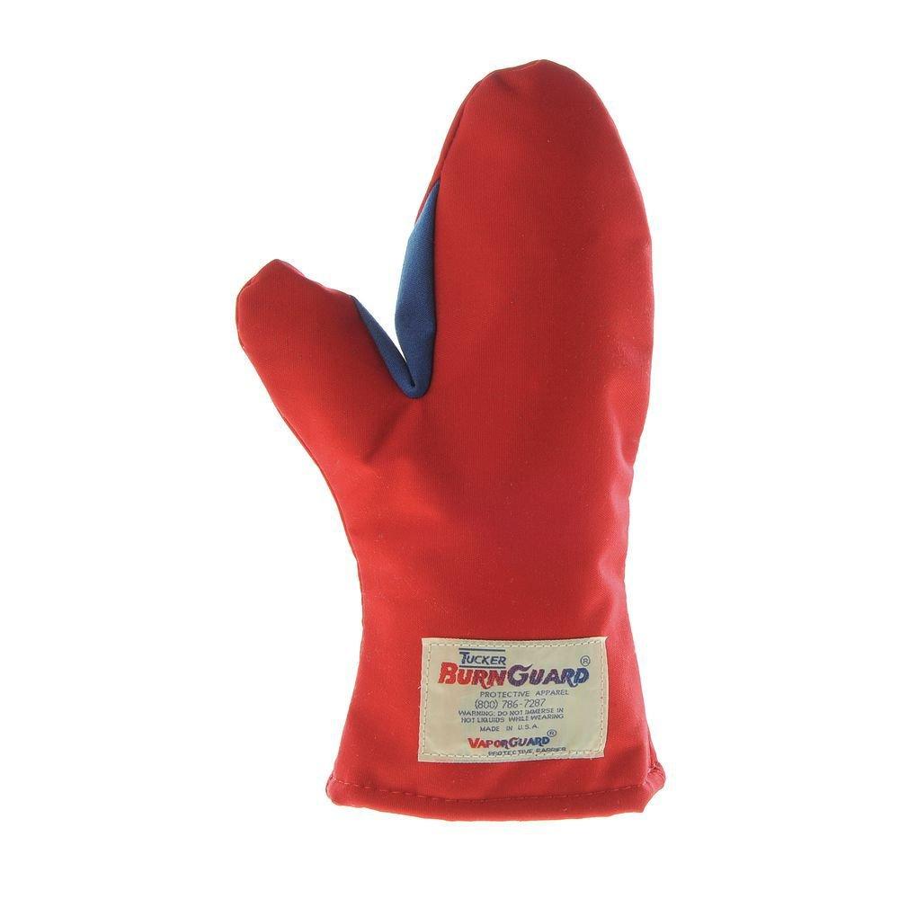 BurnGuard Oven Mitt Nomex Gusset Ambidextrous 12''L Red