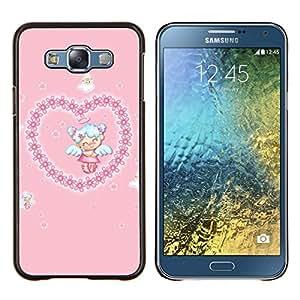 For Samsung Galaxy E7 E700 Case , Naturaleza Callejón amarillo- Diseño Patrón Teléfono Caso Cubierta Case Bumper Duro Protección Case Cover Funda