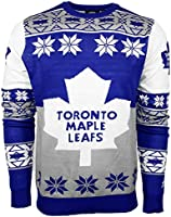 NHL Toronto Maple Leafs Big Logo Ugly Crew Neck Sweater, X-Large, Team Color