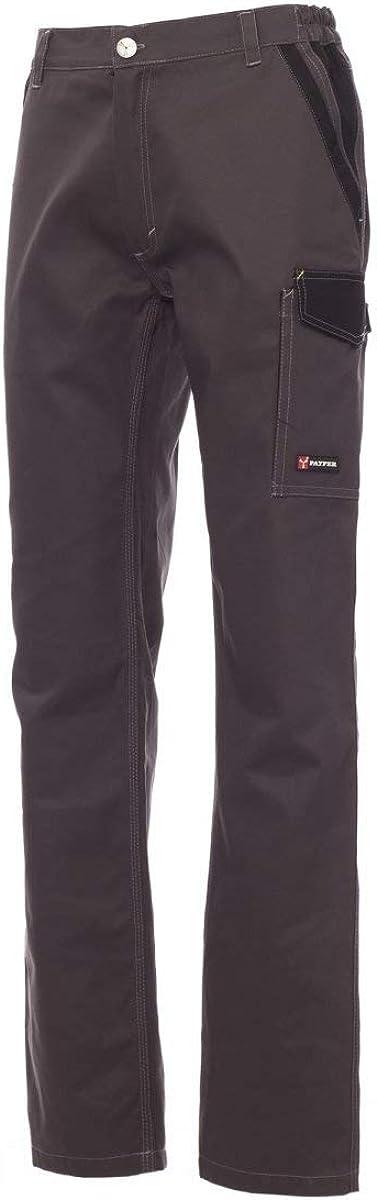 PAYPER Canyon Pantalone Unisex da Uomo Donna multistagione Lavoro con Tasche Laterali Chiusura Zip 100/% Cotone Alta visibilit/à Taglie Forti Blu Navy Royal Smoke Nero