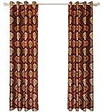 Queen's House Burgundy Luxury Curtain Valance for Living Room Custom