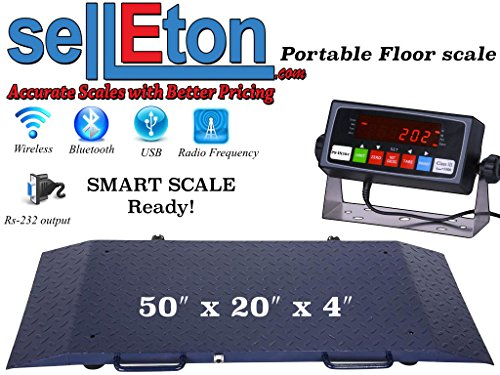 se Portable Floor Scale to Weigh Drum/Vet/ Livestock / 2000 X .2 Lb ()