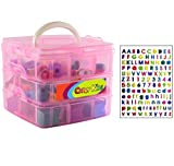 Compact Carrying Case for All Seasons of Shopkins - 3 Layers - Holds About 200 Toy Characters