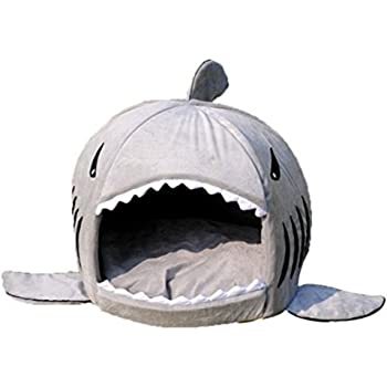 Amazon.com : KOJIMA Shark Round House Puppy Bed with Pet