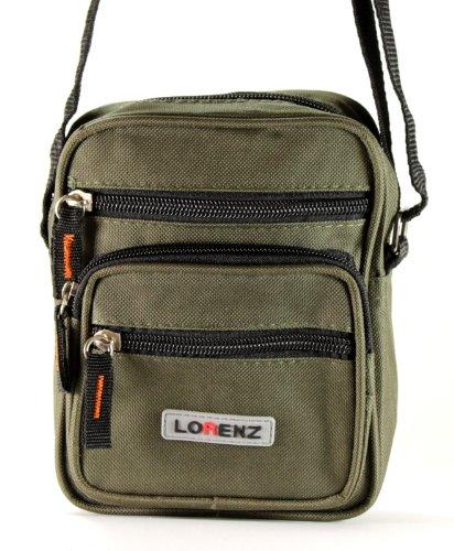 Lorenz - Bolso al hombro de lona para hombre verde - Olive Green