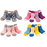 LUXEHOME (YR1607) Cozy 4 Style Baby Toddler Socks,16 Pairs per Pack