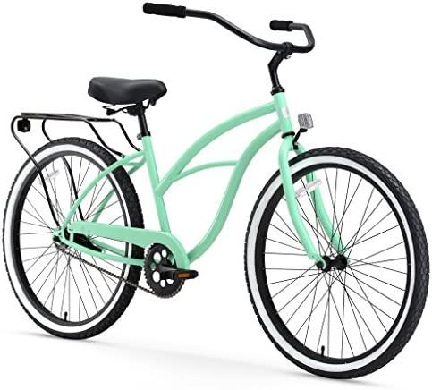 sixthreezero Around the Block Women s Cruiser Bike with Rear Rack 24-Inch, 26-Inch, and eBike