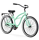 sixthreezero Around The Block Women's Single-Speed Cruiser Bicycle, Mint Green w/ Black Seat/Grips