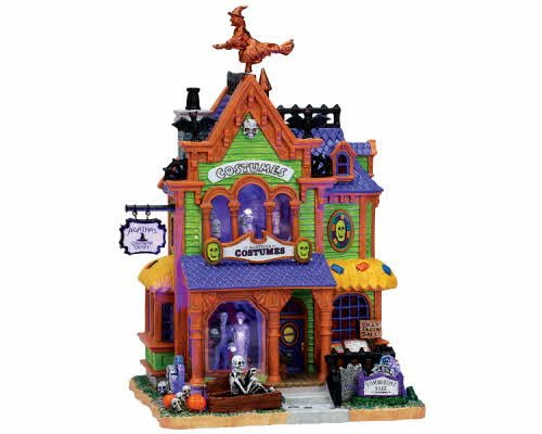 Lemax Spooky Town Agatha's Costume Crypt with Adaptor # 75494 by Lemax