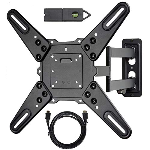 Videosecu Ml531be2 Tv Wall Mount Kit With Free Magnetic Stud Finder And Hdmi Cable For Most 26 55 Tv And New Led Tv Up To 60 Inch Vesa 400x400 Full Motion With 20 Inch Articulating Arm Wp5