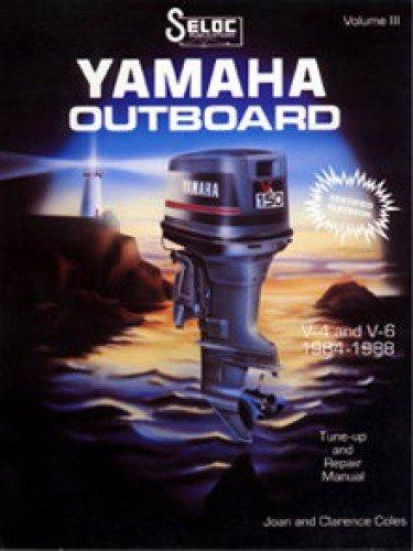 SL1704-023-3 Used Yamaha Outboard Boat Engine Service Manual 4 & 6 Cylinder 1984-1991 (023 Engine)