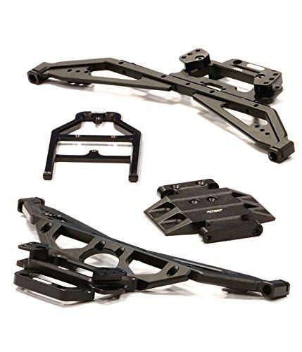 Integy RC Model Hop-ups C24751BLACK Billet Machined Main Chassis Set for Axial 1/10 Ridgecrest Rock Crawler -