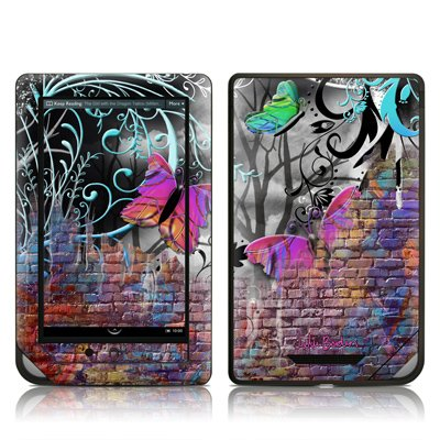 Butterfly Wall Design Protective Decal Skin Sticker for Barnes and Noble NOOK COLOR E-Book Reader