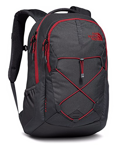 The North Face Jester Backpack Asphalt Grey Dark Heather/Cardinal Red Size One...