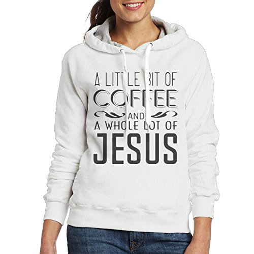 A Little Coffee, A Lot Of Jesus Womens Workout Training Hoodies Sweatshirts Size - Shops Bayside Mall
