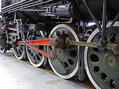 Home Comforts Canvas Print Steam Locomotive Drive Chassis Drive Rod Vivid Imagery Stretched Canvas 32 x ()