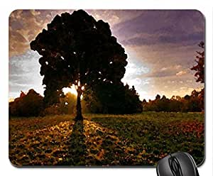 Autumn sunset Mouse Pad, Mousepad (Sunsets Mouse Pad, Watercolor style)