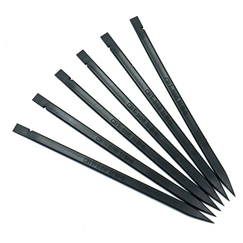 HUELE 30 Pcs Nylon Probe Spudger Pry Bar for Smart Phone and Laptop Screen Disassembly Black