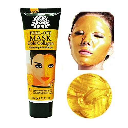 24k Gold Collagen Peel-off Facial Mask Whitening Anti-Wrinkle Face Masks Skin Care Face Lifting Firming Moisturize 4.22 Fl.oz