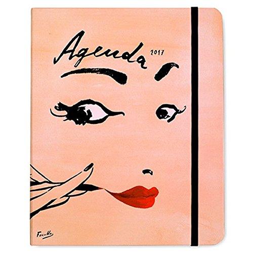 Kate Spade New York 2017 17-Month Large Agenda - Illustrative Read My Lips