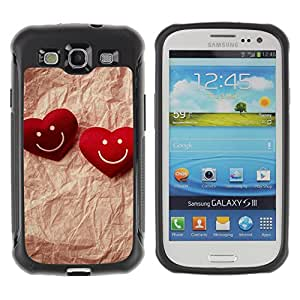 Pulsar Defender Series Tpu silicona Carcasa Funda Case para SAMSUNG Galaxy S3 III / i9300 / i747 , Love Happy Couple