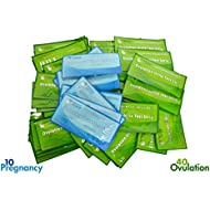 ClinicalGuard 40 Ovulation Test Strips & 10 Pregnancy Test Strips Combo