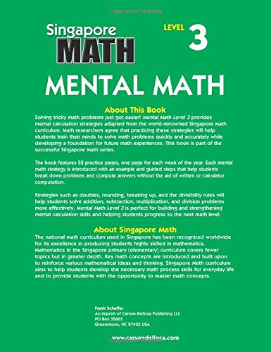 Mental Math, Grade 4: Strategies and Process Skills to Develop ...