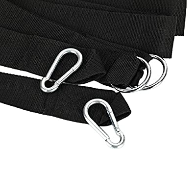 WINOMO 2pcs Hammock Tree Straps Swing Straps with Carabiner Hooks 120 Inches: Garden & Outdoor