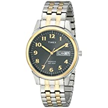 Timex Men's T26481 Elevated Classics Two-Tone Stainless Steel Expansion Band Watch