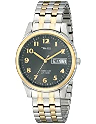Timex Mens T26481 Charles Street Two-Tone Expansion Band Watch