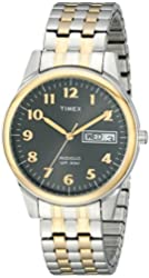 Timex Men's T26481 Elevated Classics Stainless Steel Two-Tone Watch