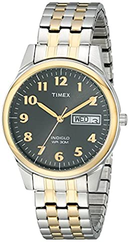 Timex Men's T26481 Elevated Classics Stainless Steel Two-Tone Watch (Gold Tone Metal Watch)