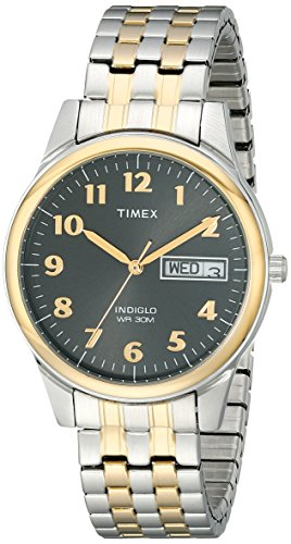 Timex Men's T26481 Charles Street Two-Tone Expansion Band Watch (Ez Timex Reader)