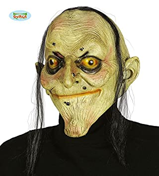 Guirca 2393 - Mascara Bruja con Pelo Latex