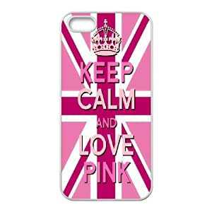 Diy Phone Cover Keep Calm for iPhone 5, 5S WEQ930078