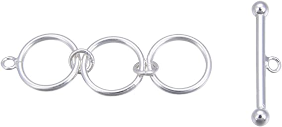 Necklace Clasp Toggle Clasp Set Ring T-Bar Silver Plated Clasp Findings Silver Toggle Clasp 2Set Tibetan Clasp Silver Loop Clasp