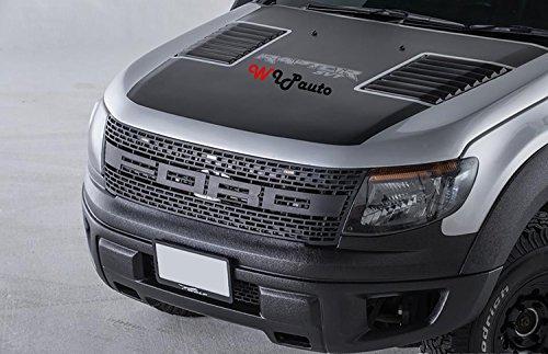 raptor front grill grille awesome led light bar black lit. Black Bedroom Furniture Sets. Home Design Ideas