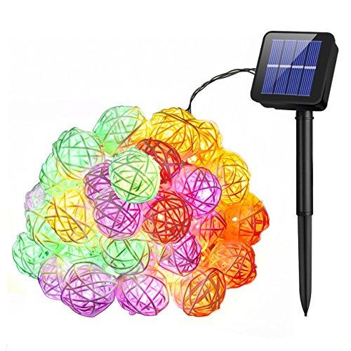 Rattan Solar Lights - 9