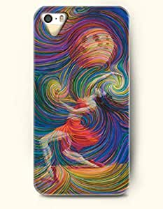 TYH - iPhone 5/5S Case, OOFIT Phone Cover Series for Apple iPhone 5 5S Case (DOESN'T FIT iPhone 5C)-- Dancing Hurricane -- Rainbow Color Series phone case