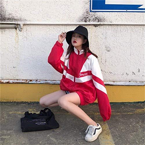 Giovane Sportivo Lunga Leggero Cappotto Manica Ragazza Misti Autunno Pattern Fashion Relaxed Rot Moda Jacket Digitale Colori Giubbino Camicetta Giacche Primaverile Estivi Casual Donna FyKqTOAO