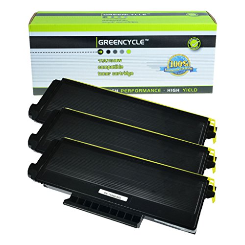 Greencycle 3 PK Compatible TN580 TN620 TN650 Black Toner Cartridge for Brother HL-5280DW HL-5250 ()