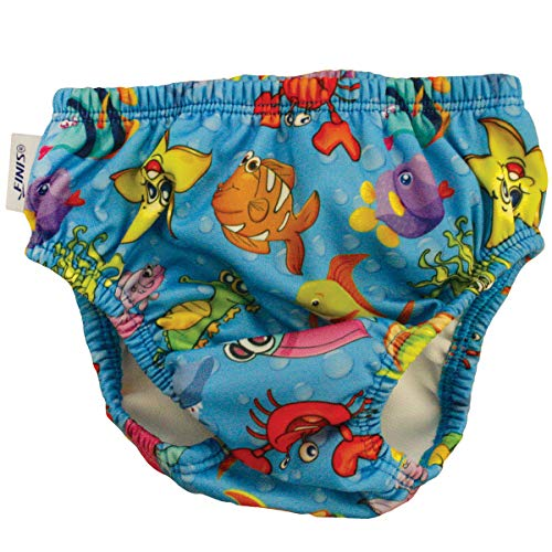 FINIS Swim Diaper Fishbowl Blue 4T Swim Diaper