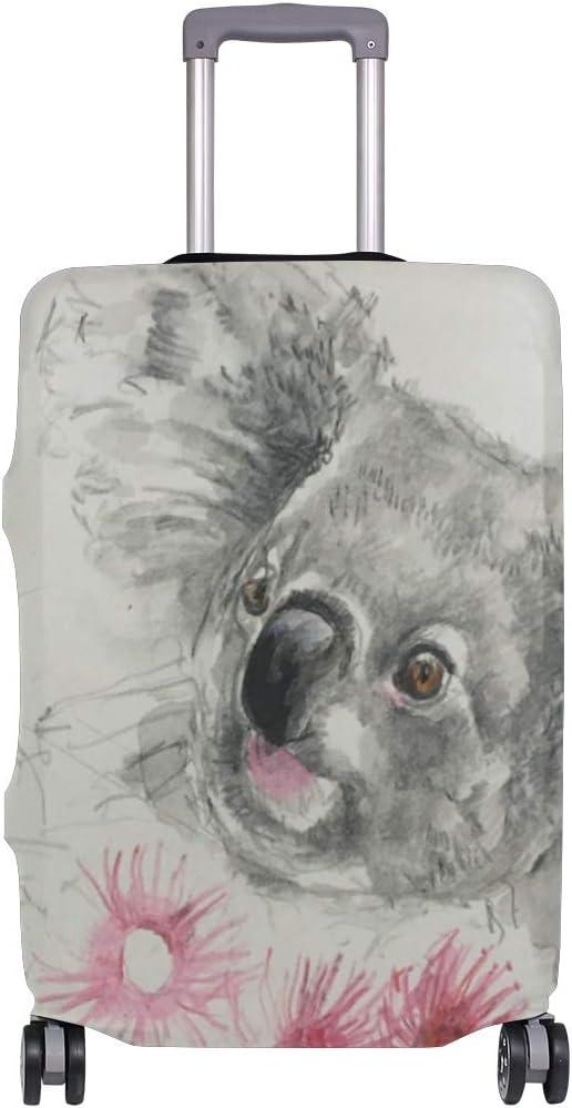 MALPLENA Animal Koala Pink Flower Luggage Protector Suitcase Cover