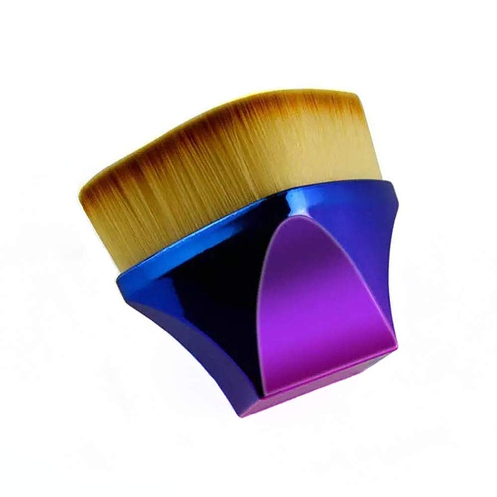 3D Flat Foundation Brush High Density Square Seal Kabuki Makeup Brush for Liquid Foundation Pressed Powder Cream Buffing Blending Stippling Face Brushes (1 Pack)