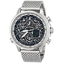 Citizen Men's JY8030-83E Navihawk A-T Analog Display Japanese Quartz Silver Watch