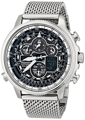 Flight Stainless Steel Watch - Citizen Eco-Drive Men's JY8030-83E Navihawk A-T Analog Display Silver Watch