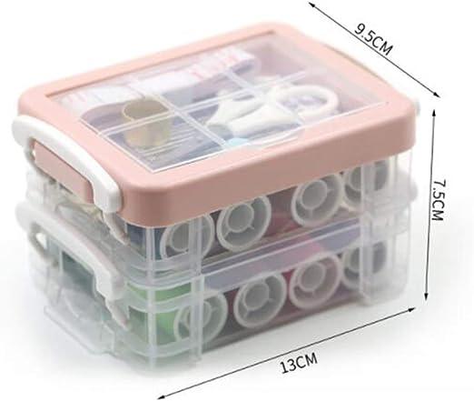 Aguja de coser Aguja de coser de mano Conjunto de caja de costura portátil multifunción Portátil Pequeño Dormitorio de estudiantes: Amazon.es: Hogar