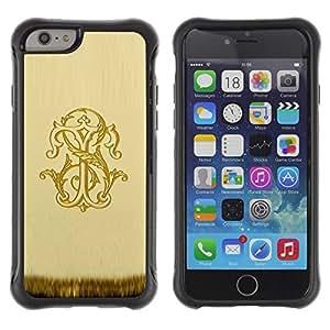 Fuerte Suave TPU GEL Caso Carcasa de Protección Funda para Apple Iphone 6 / Business Style letters X Y S T 8 letters scarf vintage